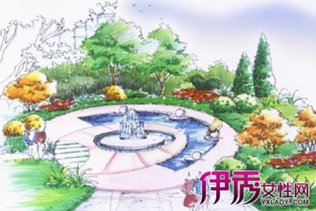 【图】喷泉手绘效果图片欣赏