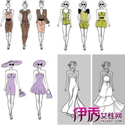 服装设计手绘模特的图片展示 为你揭晓手绘的艺术价值