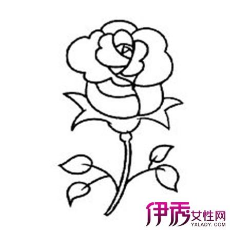 【图】玫瑰花简笔画图片大全 两个简单方法教你画出玫瑰花简笔画