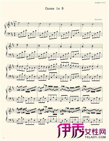 卡农钢琴谱简单版】【图】卡农钢琴谱简单版 宽350 ...