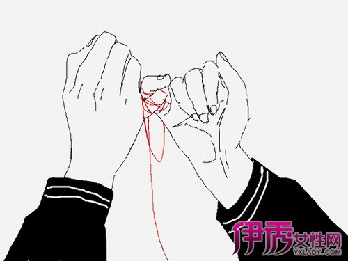 【图】小朋友手牵手简笔画展示