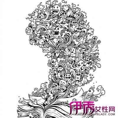 【图】好看的欧美黑白手绘插画 给文章增添感染力