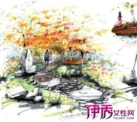 【图】中式园林景观手绘效果图欣赏 教你如何绘制园林透视图