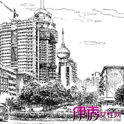 【现代建筑风景速写】【图】欣赏现代建筑风景速写的