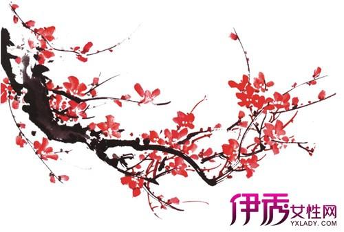 唯美古风梅花水墨画大展示 感受浓浓中国风的魅力