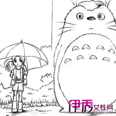 【龙猫卖萌手绘简笔画】【图】龙猫卖萌手绘简笔画