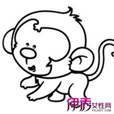 【图】萌萌哒幼儿卡通猴子图片简笔画 可爱的画风萌翻你