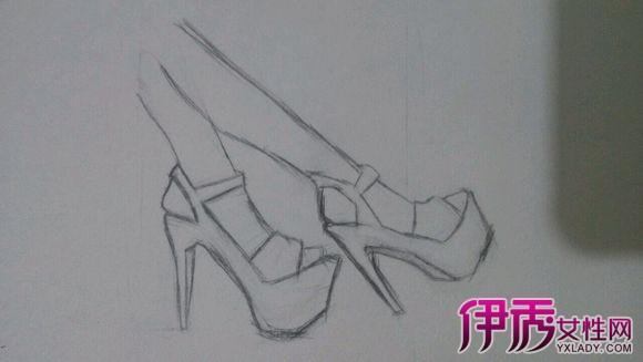 【图】高跟鞋画法图片鉴赏 5个步骤教你如何画素描
