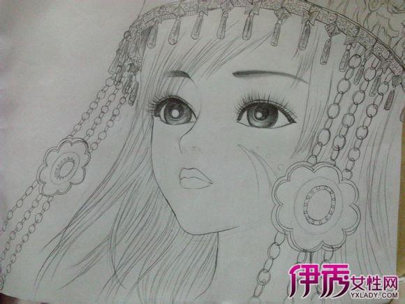 【图】古代美女素描铅笔画 塑造古典之美