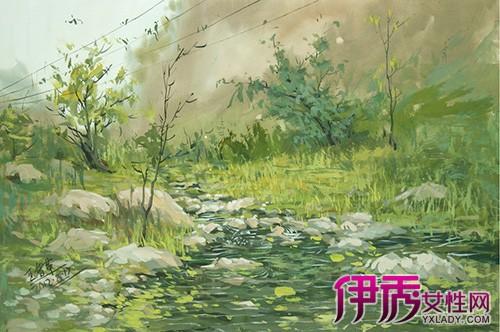 【图】欣赏风景水粉画图片