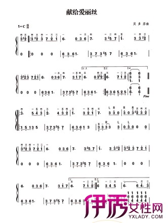 【献给爱丽丝钢琴曲简谱】【图】献给爱丽丝钢琴曲图