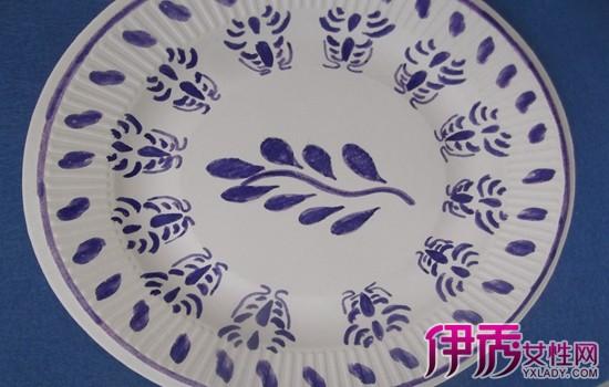 【青花瓷盘子儿童画】【图】青花瓷盘子儿童画作品