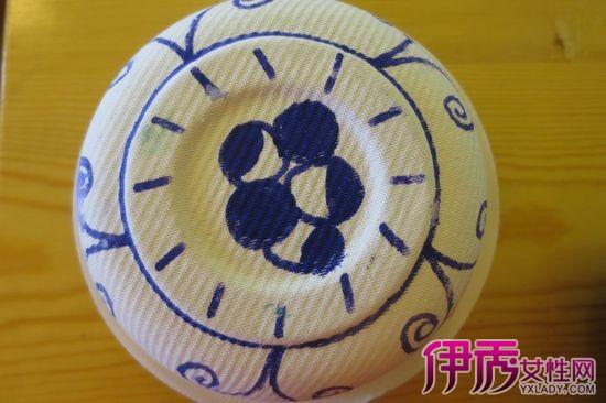 青花瓷简笔画图片 盘子画