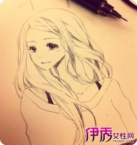 【手绘动漫女孩铅笔画】【图】手绘动漫女孩铅笔画