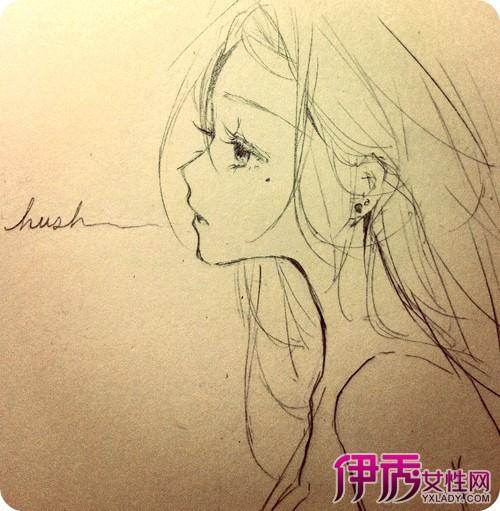 【图】手绘动漫女孩铅笔画图片欣赏