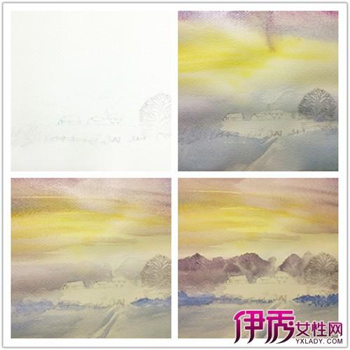 【图】水彩风景画教程 九个步骤画出水彩风景画