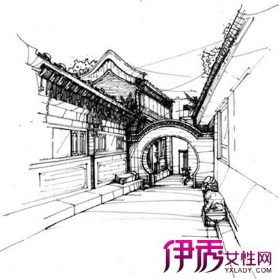 【图】古建筑手绘图片欣赏 古建筑百科知识普及