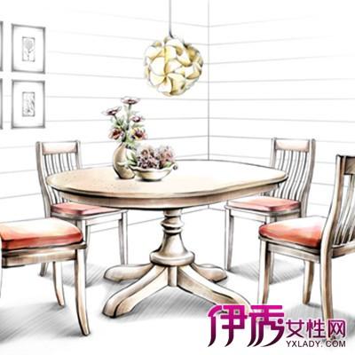 新中式茶几马克笔手绘效果图