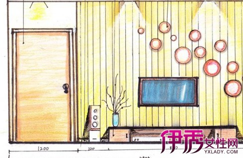 【图】客厅立面手绘效果图 五个方案为你提供更好的选择
