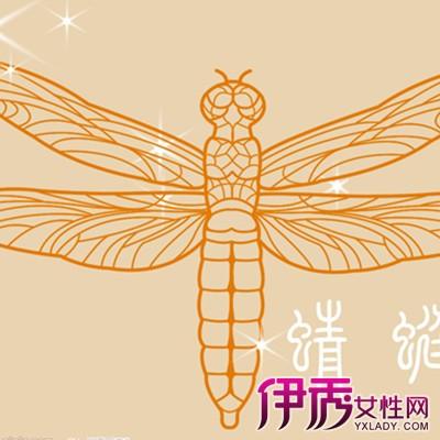 传统的蜻蜓剪纸图案画法 高超的艺术瞬间征服你