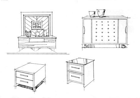 伊秀生活网 艺术 / 正文  室内家具单体手绘 横着画需要有透视效果