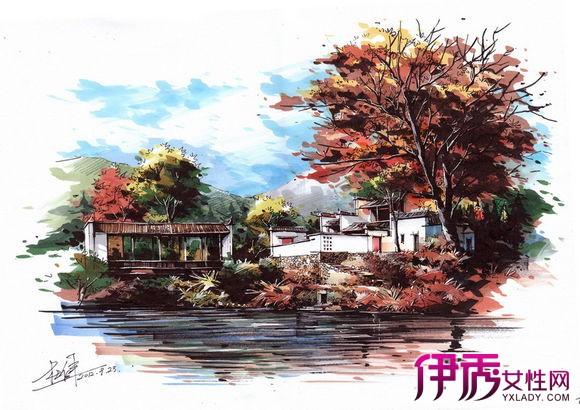 【图】卓越喷泉手绘效果图大全 不可取代的美学