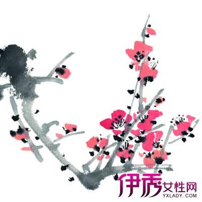 点梅时还要注意梅花花瓣的形象特征,梅花花瓣和桃花花瓣的最大区别就图片