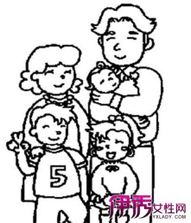 【五口人全家福简笔画】【图】五口人全家福简笔画