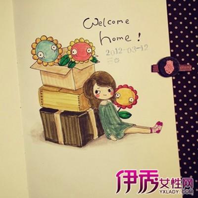 【图】唯美日记手绘小插画