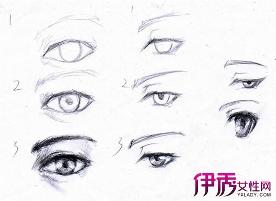 【图】画眼睛的步骤图素描 几大步骤轻松学会画画