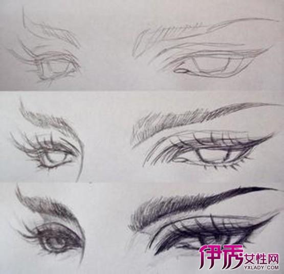 【画眼睛的步骤图素描】【图】画眼睛的步骤图素描