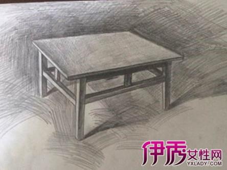【图】桌子素描图片欣赏 巧用素描7大工具