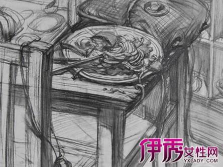 【桌子素描图片】【图】桌子素描图片欣赏