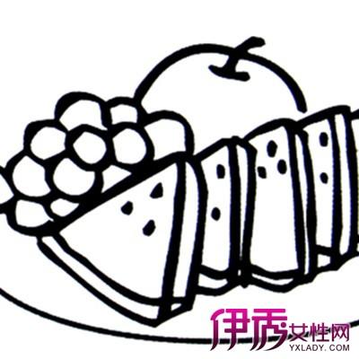 欣赏一盘水果简笔画的图片 吃水果对身体非常好图片