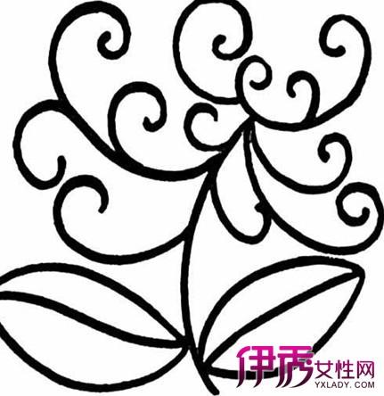 第二朵花和第一朵花要有方向的差异性图片