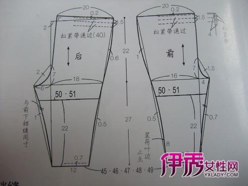 附童裤裁剪图和详细童裤制作教程
