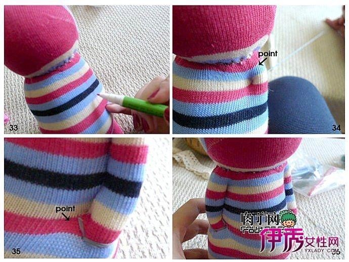 不三不四袜子娃娃-非常可爱的小猫手工制作教程