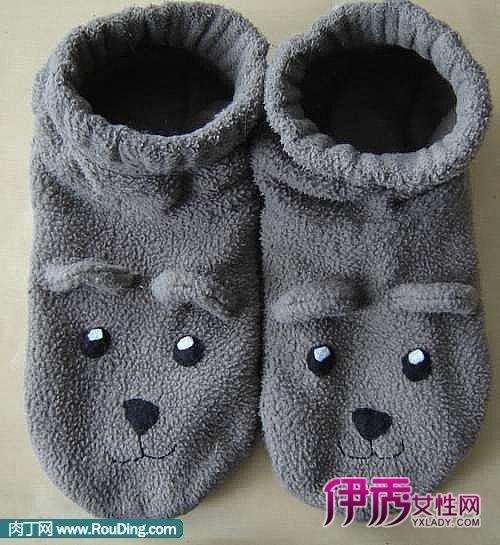 旧衣改造diy可爱的小熊袜子拖鞋手工制做(第1页)