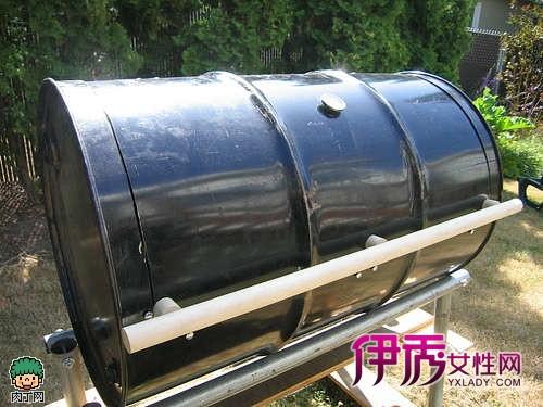 diy油桶摇身改造新型烧烤架