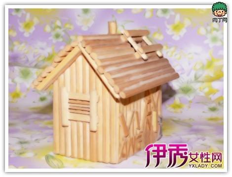 可爱的筷子房屋—一次性筷子做房子欣赏