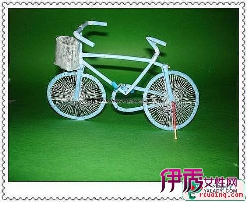 吸管手工小制作-精美吸管手工自行车工艺品(第1页)
