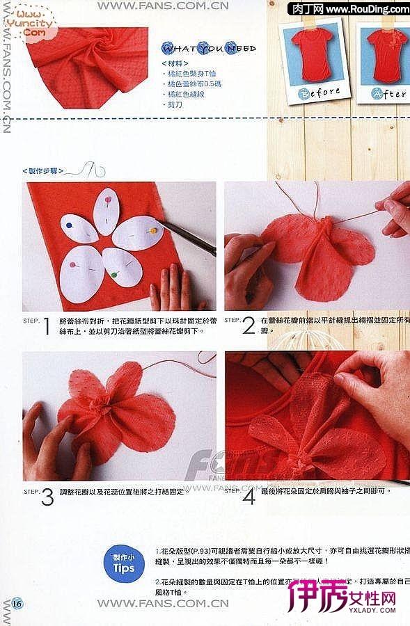 布艺花朵制作步骤