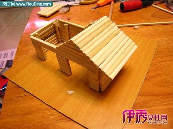 自制仓鼠窝-一次性筷子手工制作的小房子