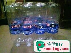 矿泉水瓶制作沙发椅的废物利用diy图片