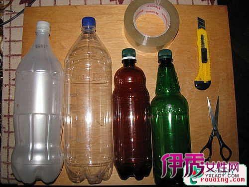 矿泉水瓶,可乐瓶制作灯罩,灯罩diy图片
