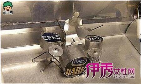 伊秀生活网 创意 / 正文  易拉罐diy的超酷大货车模型diy图解diy车头