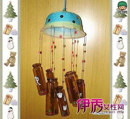 制作简单玻璃瓶风铃窗前挂一串风铃,微风抚过,铃声清脆,玎玲做响,房间