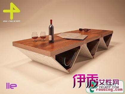 巧妙的结构实现桌,椅两种功能