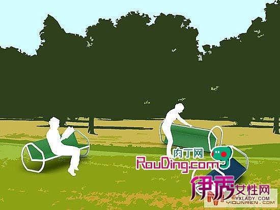 可滚动的公园长椅_创意div_创意-伊秀生活网|yxlady.