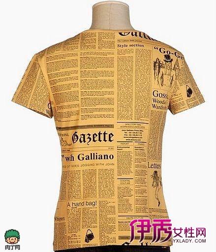 报纸图案的t恤设计_创意div_创意-伊秀生活网|yxlady.